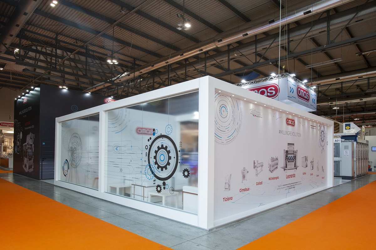 Exhibition Stand Fitters : Omas ipack ima milano maxstand